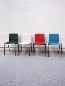 chaises fibre de verre vintage retro design chaises ecole lyon vintage mobilier ameublement decoration pieds compas couleurs plastique