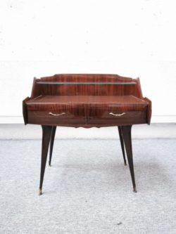 paire de chevet italie chevets petit meuble table basse verre retro chaise rotin fauteuil vintage brocante maison ameublement deco home deco tendance lyon decoration pieds compas boutique ameublement
