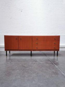 enfilade marcel gascoin, vintage, mobilier vintage, rotin, fauteuil en rotin, table de ferme