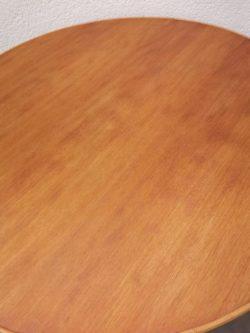table rotin bambou bois ronde plateau rond chene mobilier jardin exterieur design brocante coiffeuse bureau vintage retro annees 50 lyon design bois laque pieds compas boutique laiton scandinave