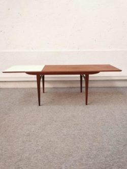 table basse scandinave , vintage, rotin, enfilade