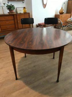 table ronde en palissandre rallonge papillon