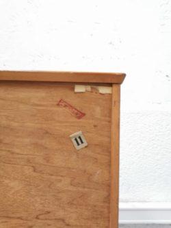 bibliotheque vitrine pieds compas teck anglais scandinave enfilade boutique lyon shop ameublement meuble decoration vintage lyon retro années 50 60 palissandre buffet brocante